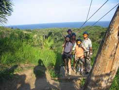Carlos and family at jungle zip line